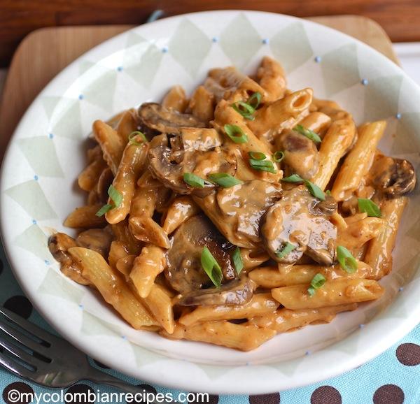 pasta with portobello
