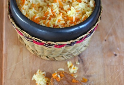 Arroz con Zanahoria (Rice with Carrots) |mycolombianrecipes.com