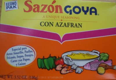 Sazon Goya with Azafran|mycolombianrecipes.com