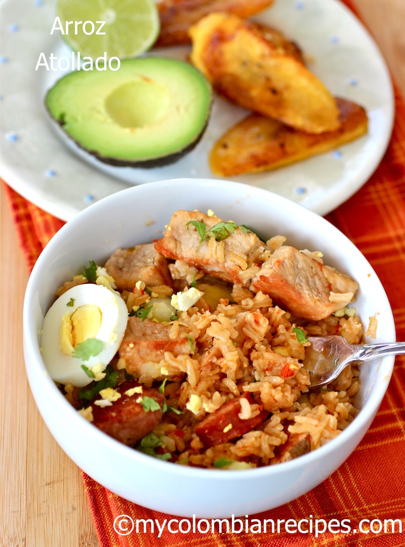 Arroz atollado colombiano colombian style pork risotto my plain boiled rice is eaten by most people in colombia every day but for entertaining a more interesting rice dish is often served forumfinder Gallery
