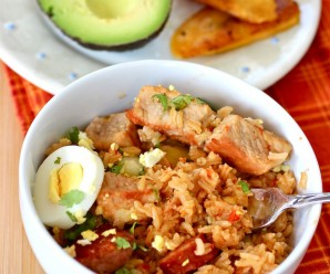 Arroz Atollado (Colombian-Style Pork Risotto)|mycolombianrecipes.com