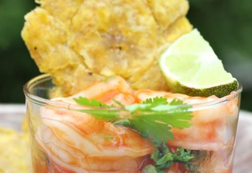 Ceviche de Camarones (Colombian-Style Shrimp Ceviche) |mycolombianrecipes.com