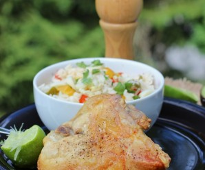 Chicken with Honey and Lime (Pollo al Limón y Miel) |mycolombianrecipes.com