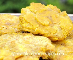 Patacones or Tostones Recipe|mycolombianrecipes.com