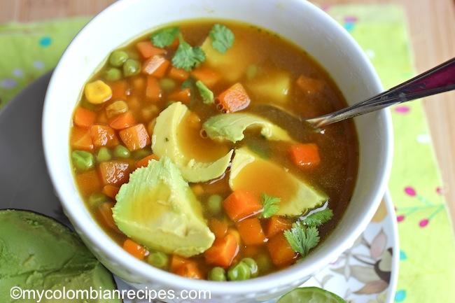 Recetas Verduras Colombianas Sopa de Verduras Colombiana