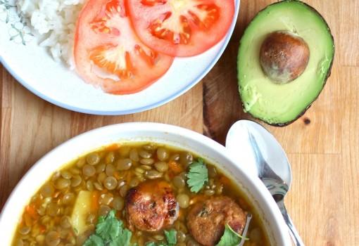 """<span class=""""p-name"""">Sopa de Lentejas (Colombian-Style Lentil soup)</span>"""