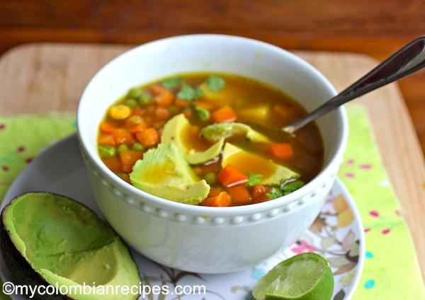 Recetas Colombianas-Sopa de Verduras