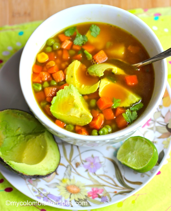 Vegetable Soup-Colombian Food