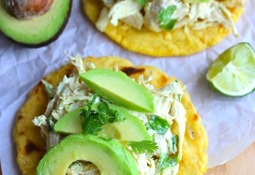 "<span class=""p-name"">Arepas with Chicken and Avocado (Arepas con Pollo y Aguacate)</span>"