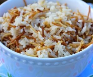 Arroz con Fideos (Angel Hair Rice) |mycolombianrecipes.com