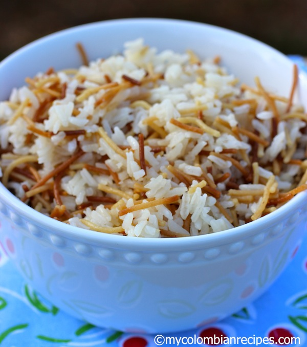 Arroz Con Fideos Rice With Angel Hair Pasta My