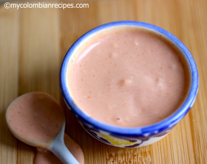 Salsa Rosada Pink Sauce My Colombian Recipes