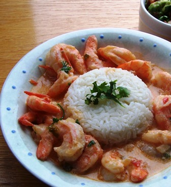Camarones  or Colombian Shrimp in Creole Sauce