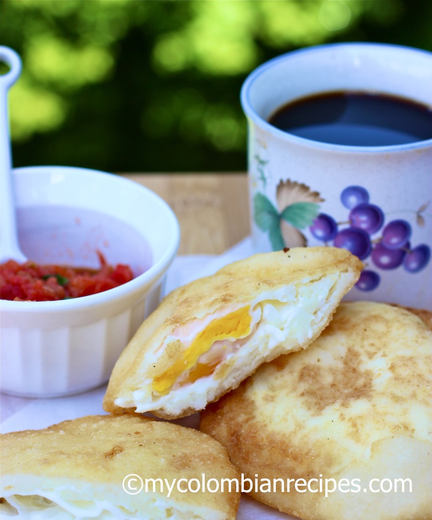 Arepa Filled With Egg Arepa De Huevo My Colombian Recipes