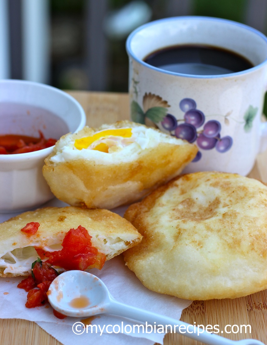 Arepa Filled with Egg (Arepa de Huevo) | My Colombian Recipes