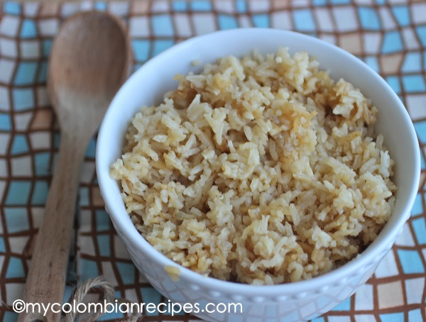 receta de arroz con Cebolla-My Colombian Recipes