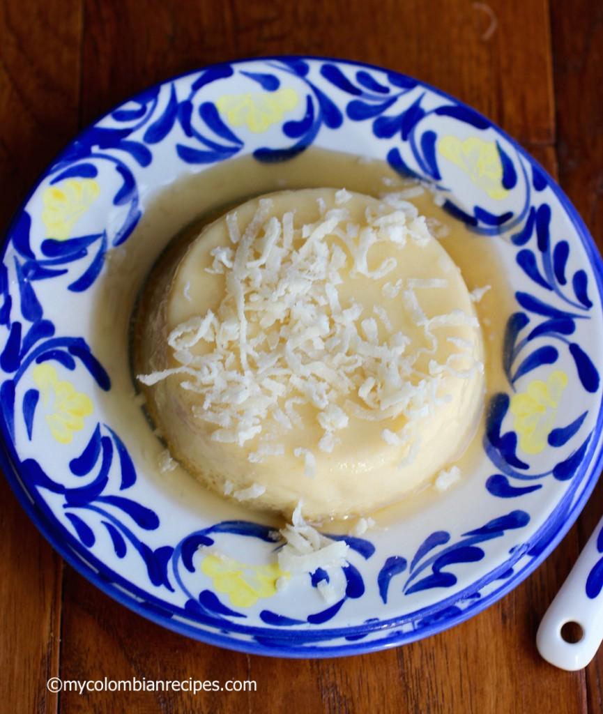Flan de Coco (Coconut Flan) |mycolombianrecipes.com