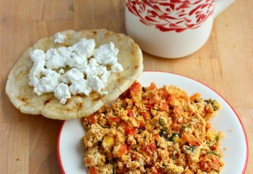"<span class=""p-name"">Huevos Pericos (Scrambled Eggs with Tomato and Scallions)</span>"