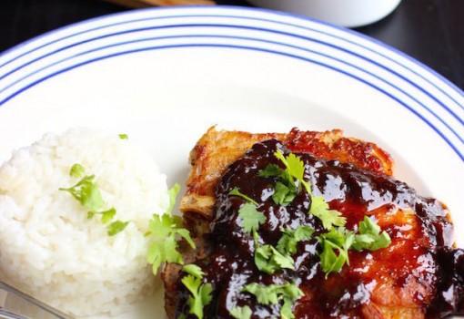 """<span class=""""p-name"""">Pork Chops with Prune Sauce (Chuletas de Cerdo con Salsa de Ciruelas)</span>"""