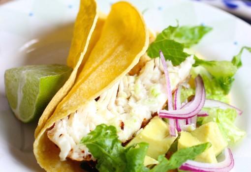 """<span class=""""p-name"""">Tilapia Fish Tacos (Tacos de Tilapia)</span>"""