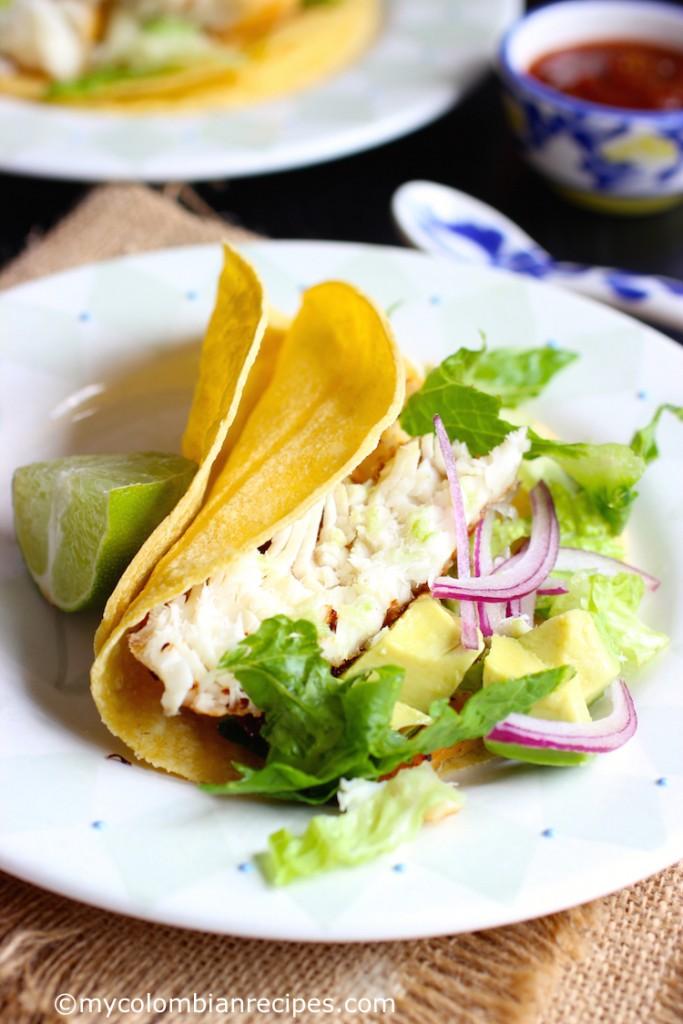 Tilapia Fish Tacos|mycolombianrecipes.com