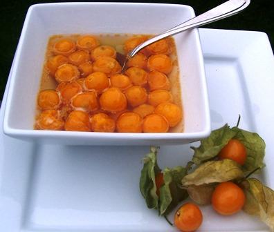 Dulce de Uchuvas or gooseberries Preserve