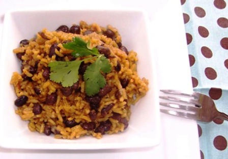 Arroz con Frijole Negros or Rice with Black Beans