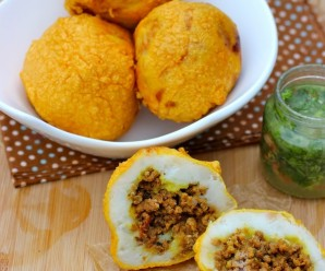 Colombian Style Stuffed Potatoes (Papas Rellenas Colombianas) |mycolombianrecipes.com