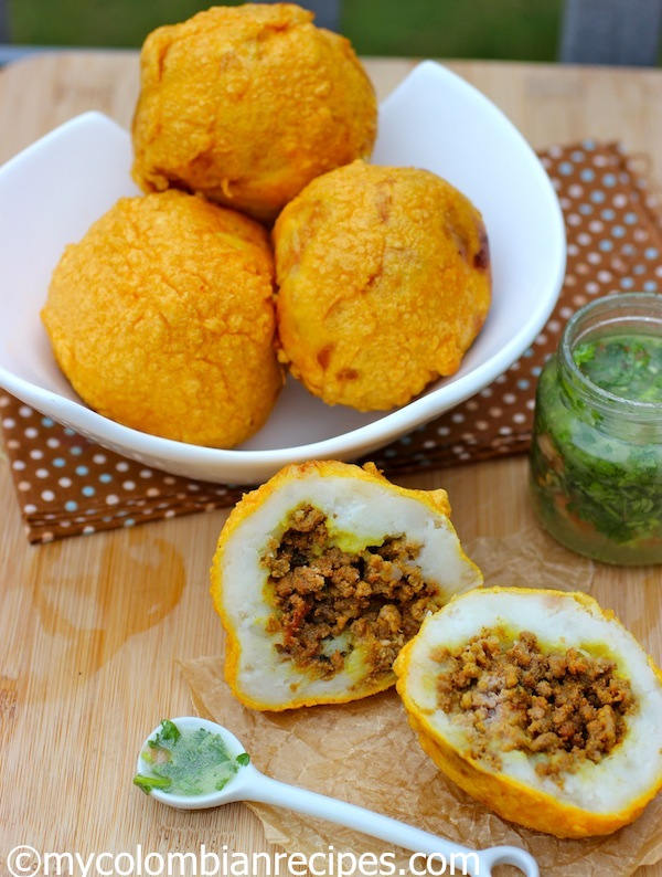 Colombian Style Stuffed Potatoes (Papas Rellenas ...