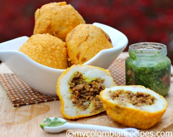 Colombian Style Stuffed Potatoes (Papas Rellenas ...