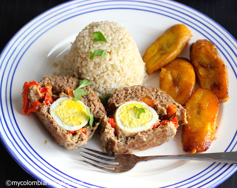 Colombian Style Stuffed Meatloaf (Albondigón Colombiano)