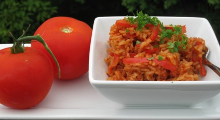 Arroz con Tomate y Pimentón
