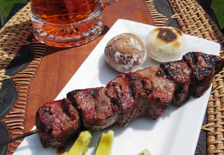 beef skewers chuzos de res my colombian recipes