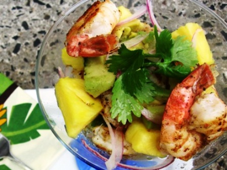 Shrimp Cocktail with Pineapple and Avocado