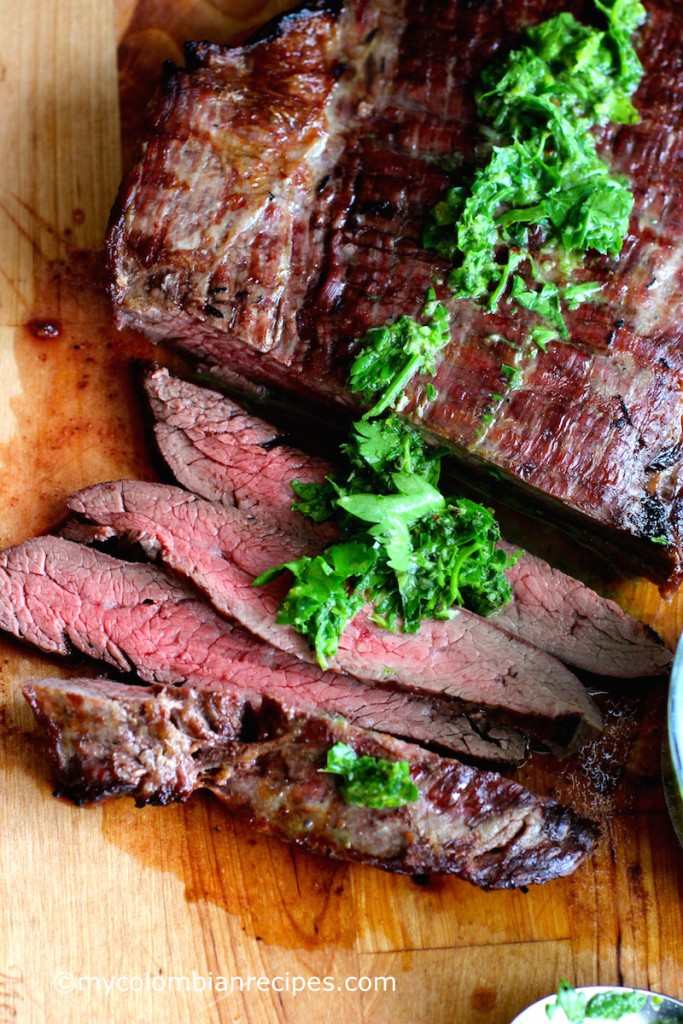 Steak with Chimichurri Sauce (Carne con Chimichurri)