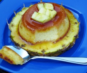 Flan de Piña (Pineapple Flan) |mycolombianrecipes.com