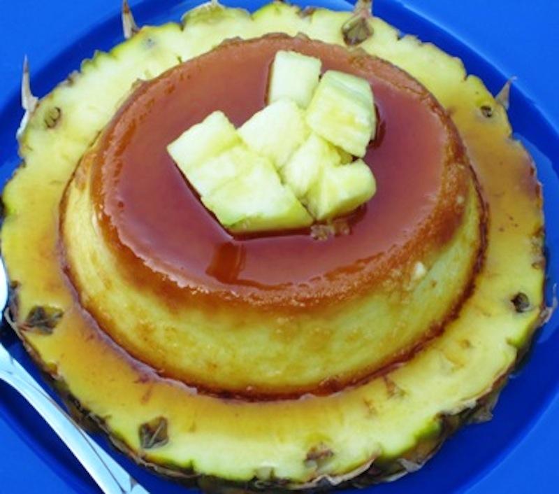 Flan de Piña (Pineapple Flan) |mycolombianrecipes.com