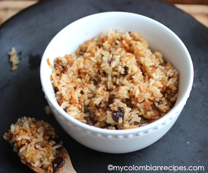 Arroz Con Coco Titot 233 Rice With Coconut And Raisins My Colombian Recipes