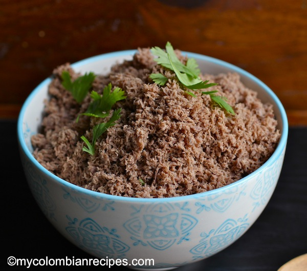 Carne molida, or ground beef, is another side dish that is frequently served in most Colombian homes.