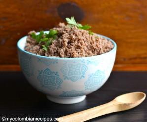 Receta de Carne en Polvo Colombiana|mycolombianrecipes.com