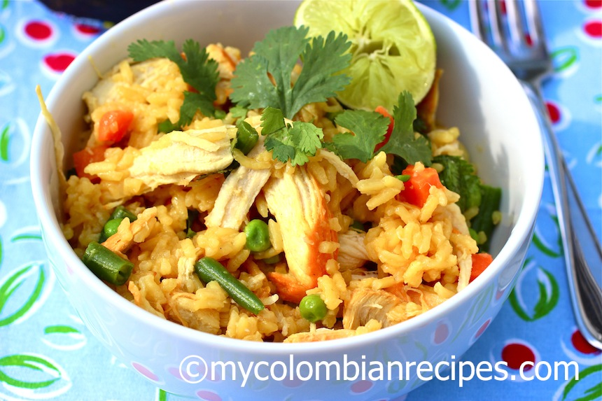 Arroz con pollo Colombiano Receta