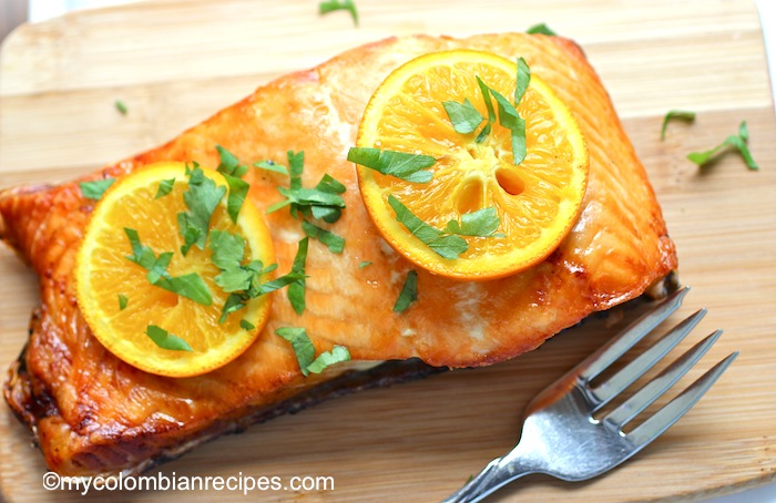 Baked Salmon with Honey and Orange