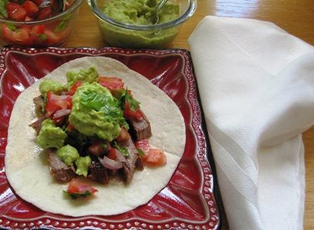 """<span class=""""p-name"""">Beef Tacos with Avocado Sauce (Tacos de Carne con Salsa de Aguacate)</span>"""