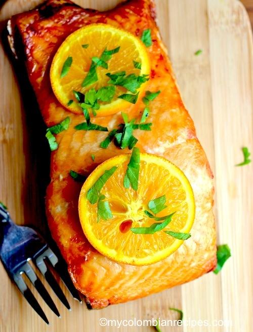 Salmon with Orange and Honey