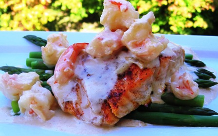 Salmon con Camarone