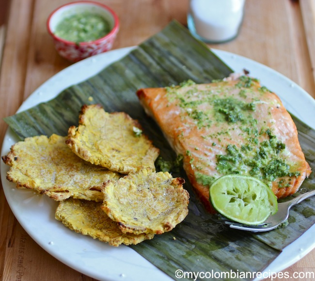 Baked Salmon with Cilantro anad Parsley