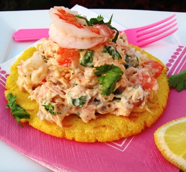 Arepas with Salmon and Shrimp (Arepas con Salmon y Camarones) | My ...