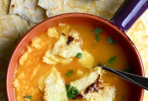 Sopa de Arepa Colombiana |mycolombianrecipes.com