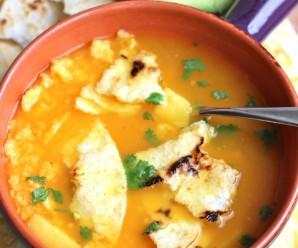 Sopa de Arepa (Corn Cake Soup) |mycolombianrecipes.com