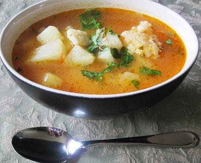 Sopa de arepa